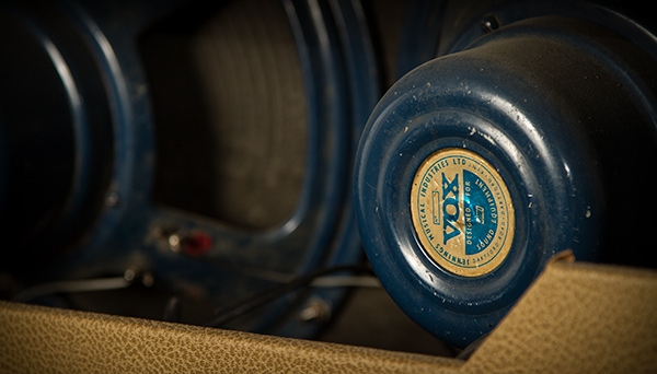 Vox AC30 Cabinet blue speaker